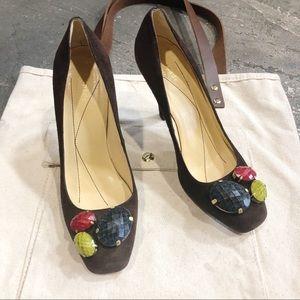 Kate Spade Suede Jewel Toe Heels
